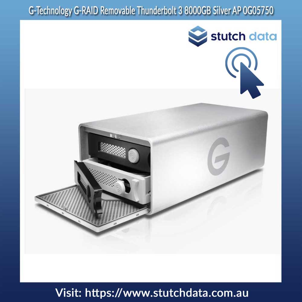 G-Technology G-RAID Removable Thunderbolt 3 8000GB Silver AP 0G05750