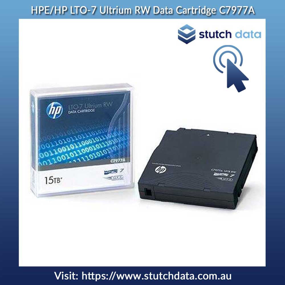 Image of HPE/HP LTO-7 Ultrium RW Data Cartridge C7977A