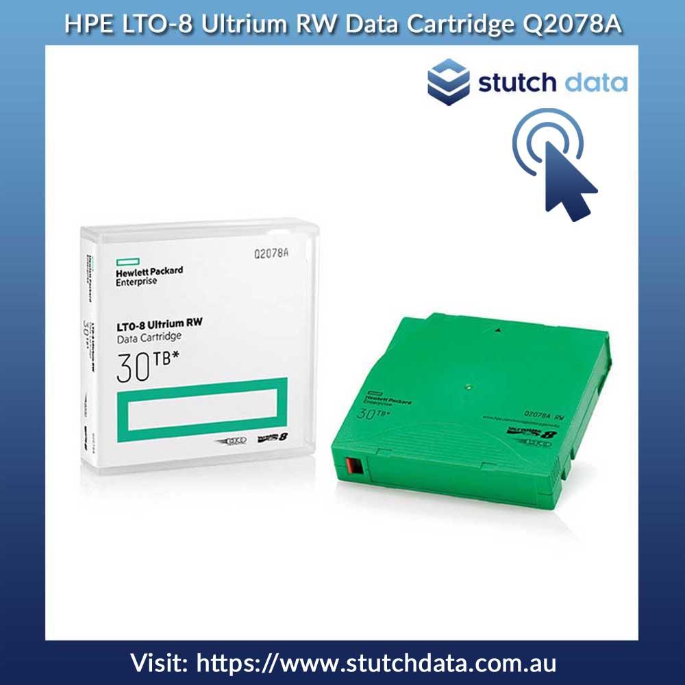 Image of HPE LTO-8 Ultrium RW Data Cartridge Q2078A