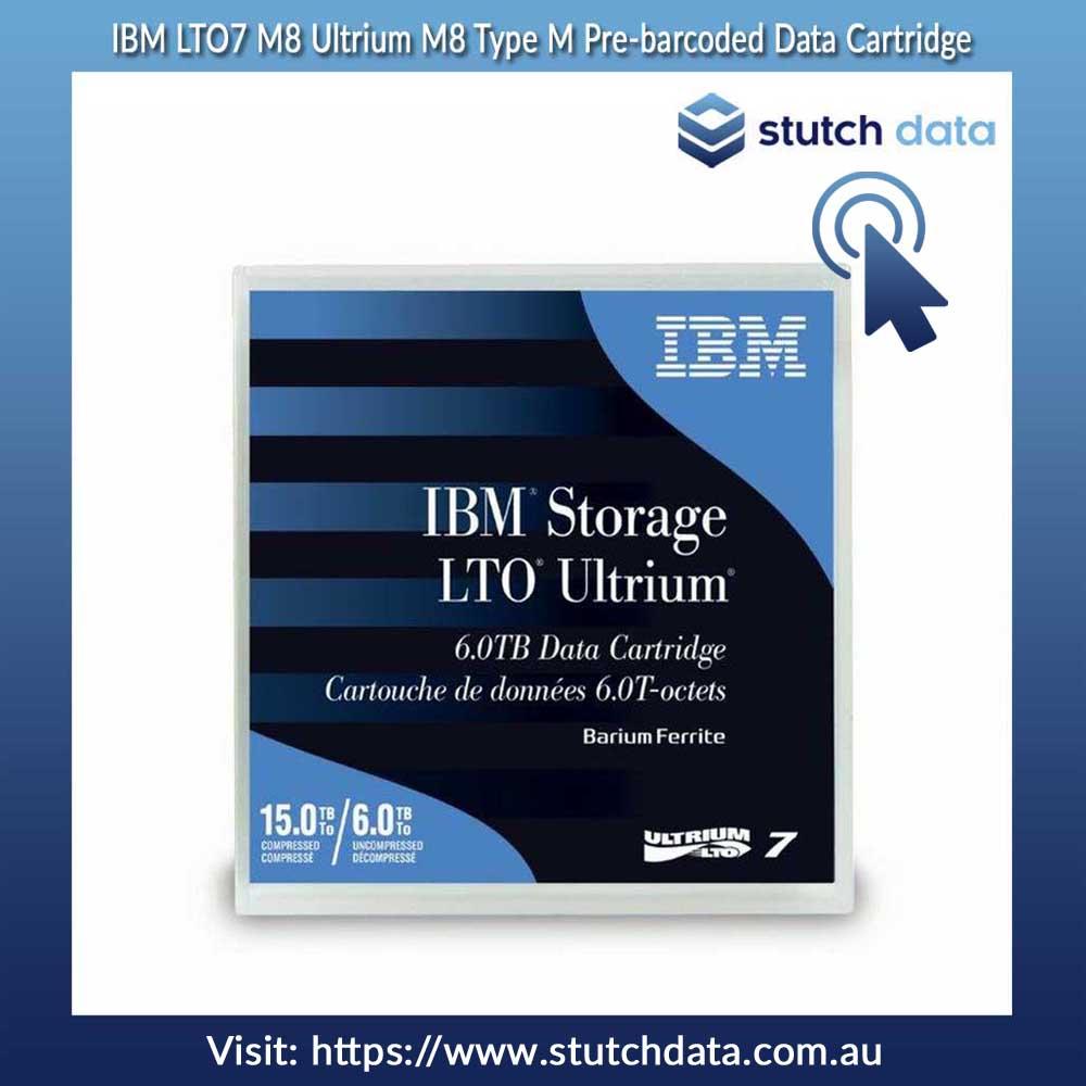Image of IBM LTO7 M8 Ultrium M8 Type M Pre-barcoded Data Cartridge