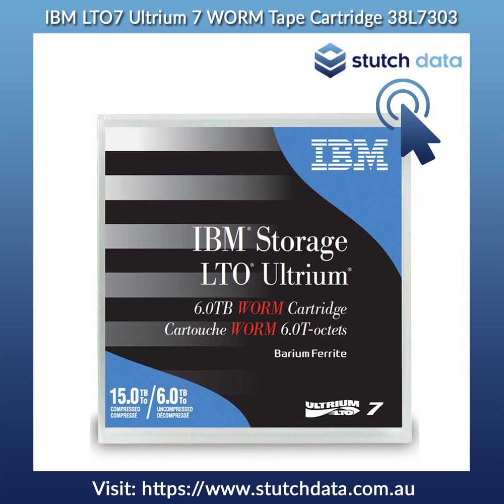 Image of IBM LTO7 Ultrium 7 WORM Tape Cartridge 38L7303 in product case