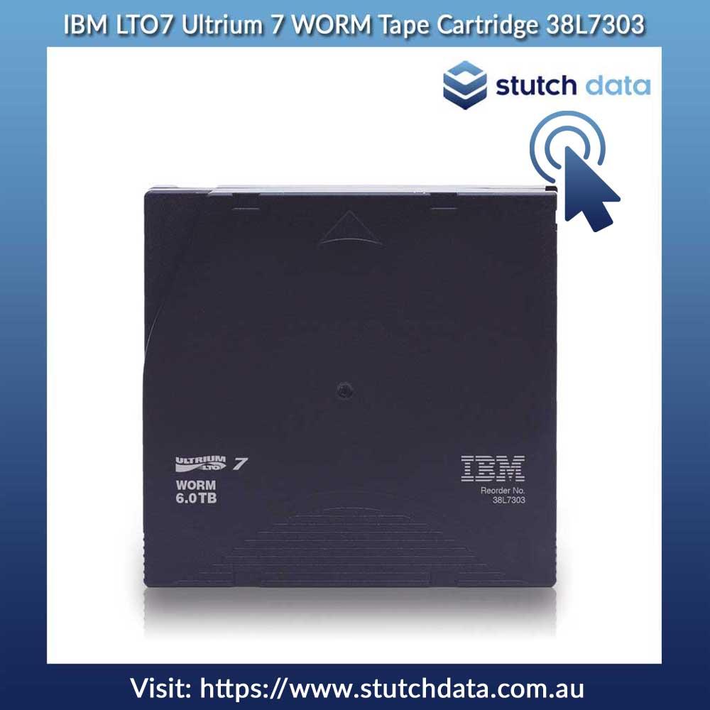 Image of IBM LTO7 Ultrium 7 WORM Tape Cartridge 38L7303