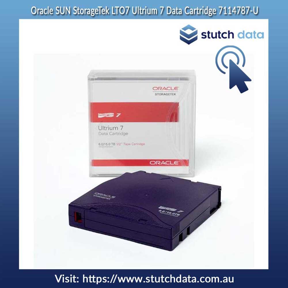 Image of Oracle StorageTek LTO7 M8 Ultrium Type M Pre-barcoded Data Cartridge