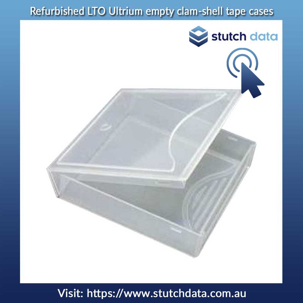 Image of LTO Ultrium empty clam-shell tape cases - refurbished