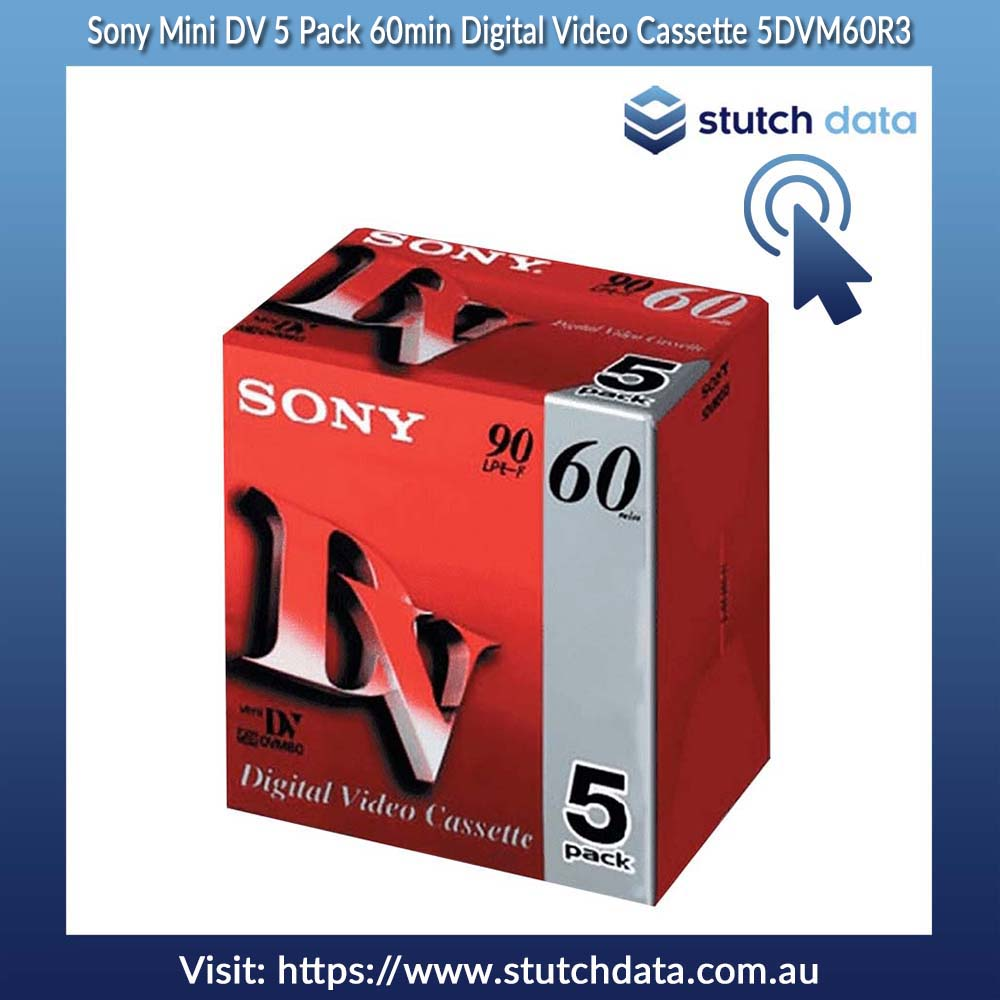 Sony Mini DV 5 Pack 60min Digital Video Cassette 5DVM60R3