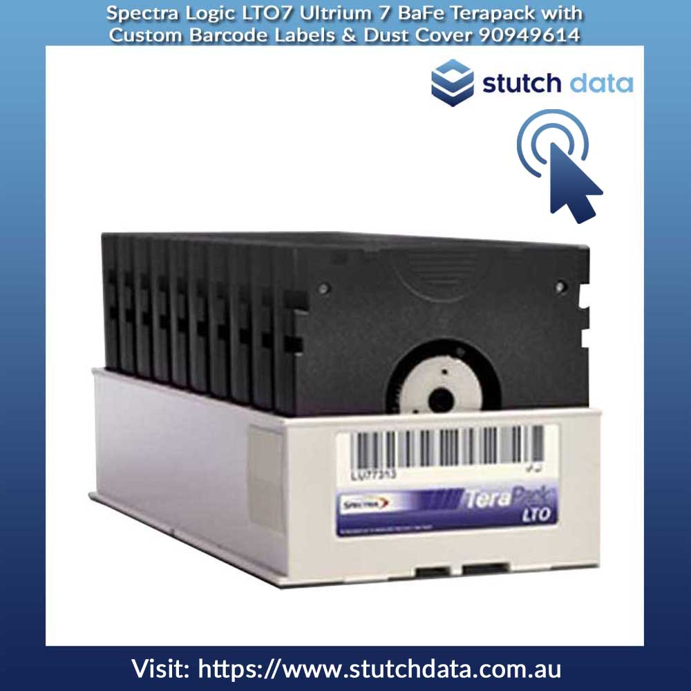 Image of Spectra Logic LTO7 Ultrium 7 BaFe Terapack with Custom Barcode Labels & Dust Cover 90949614