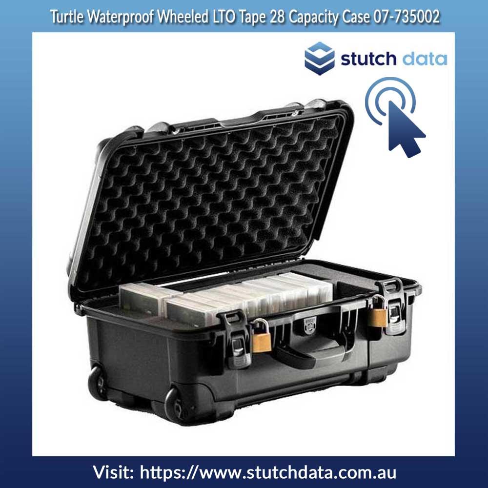 Image of Turtle Waterproof Wheeled LTO Tape 28 Capacity Case 07-735002