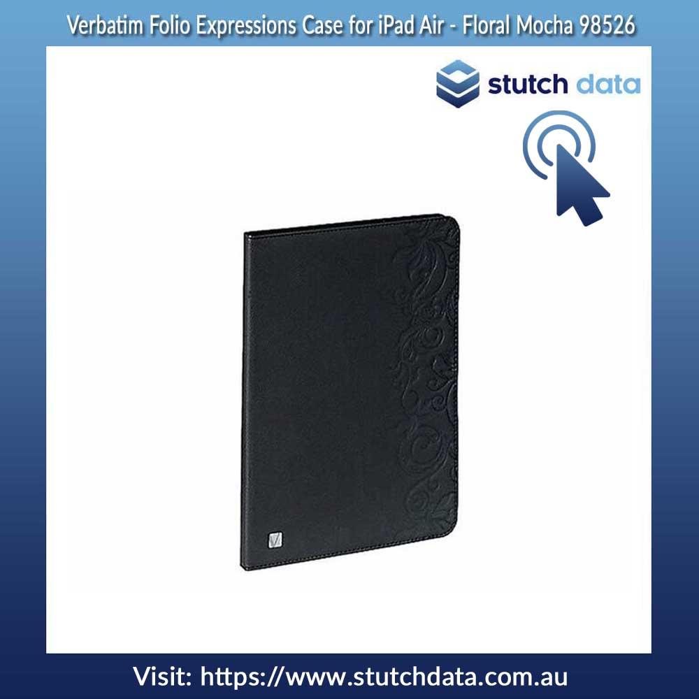 Image of Verbatim Folio Expressions Case for iPad Air - Floral Mocha 98526