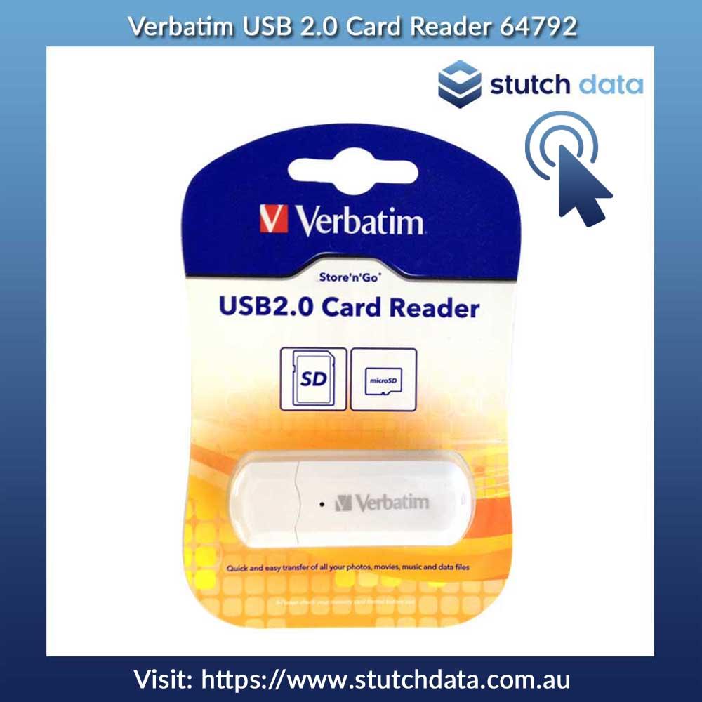 Verbatim USB 2.0 Card Reader 64792