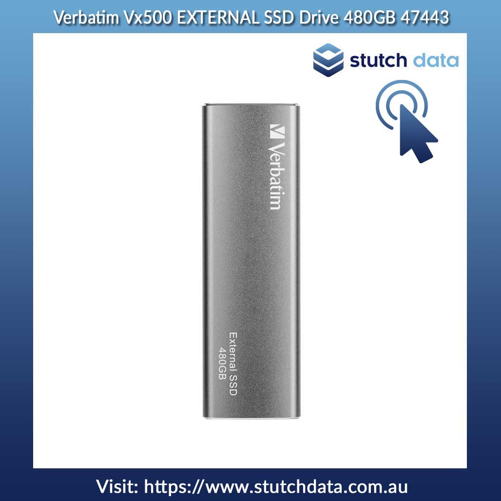Image of Verbatim Vx500 EXTERNAL SSD Drive 480GB 47443 front view