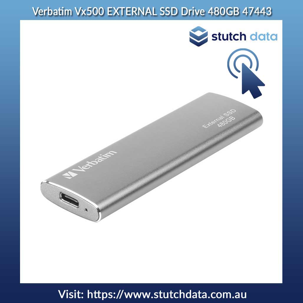 Image of Verbatim Vx500 EXTERNAL SSD Drive 480GB 47443 slanted view